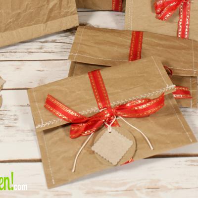 Eco-friendly Gift Wrap Sewn Paper Envelopes