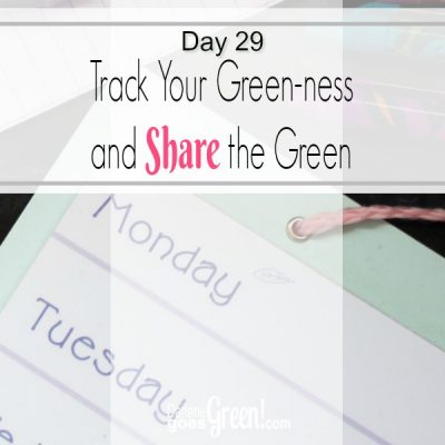 Go Green Track Your Progress and Share