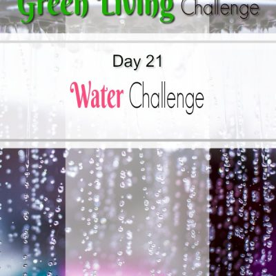 Go Green Reduce Water Consumption