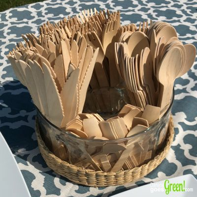 Plastic Free Party? Read my review of wooden cutlery here https://darlenegoesgreen.com/plastic-free-partyware-a-wooden-cutlery-review/